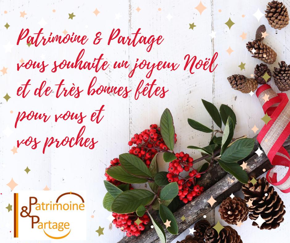 Joyeux Noel Souhaite.Patrimoine Partage Vous Souhaite Un Joyeux Noel